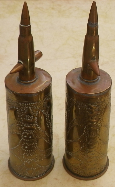 Pair of French-Serbian trench art crosses