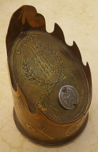 French trench art inkwell
