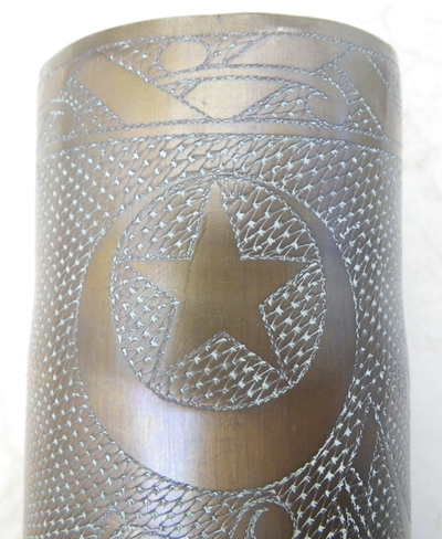 1916 French decorative trench art souvenir of Serbia