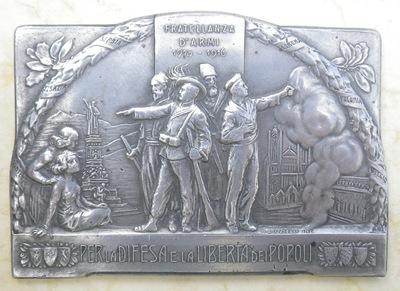 Italian Army Brotherhood plaque