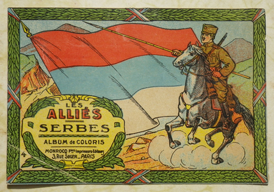 'Serbian Allies' colouring book cover