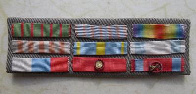 French-Serbian medal ribbons bar