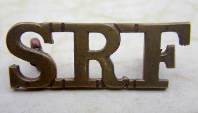 Serbian Relief Fund collar tab