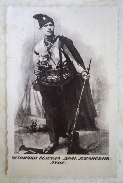 Postcard of Serbian Chetnik leader Dragutin Jovanovic-Lune