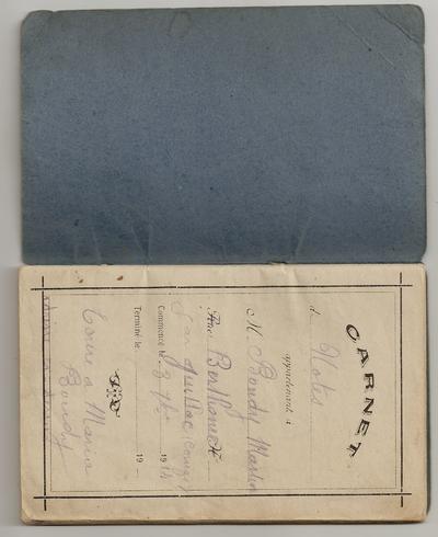 Le carnet de guerre du sergent Martin Boudy 1914-1915