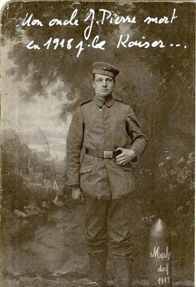FRAD067-113 Deux photographies de Jean-Pierre Brisbois, de Lemberg (Moselle), mort au combat le 12 octobre 1918 (armée allemande)