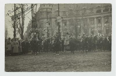 FRBNBU-017 Carte postale du roi et de la reine de Roumanie envoyée par Georges Boursier
