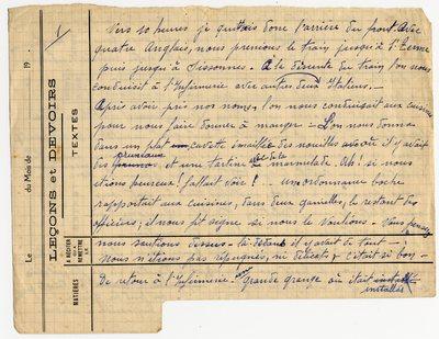 FRAD067-121 Supplément au récit de captivité du Corrézien Léon Mayzaud (France, Pologne, 1918)