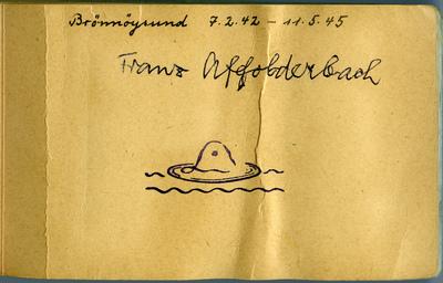 Album tittelside- Brønnøysund 07.02.1942-11.05.1945, Franz Affolderbach