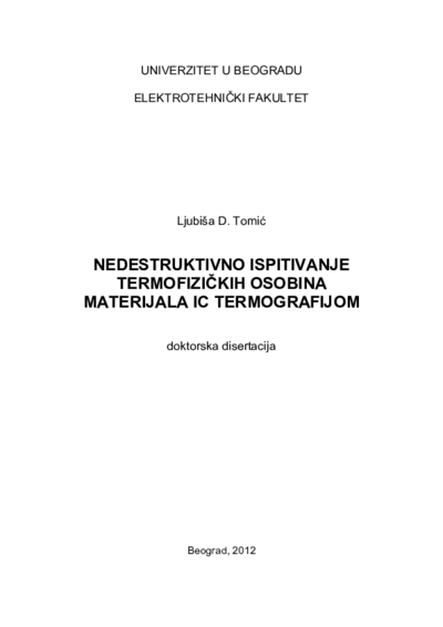 Nondestructive evaluation of the thermophysics properties materials by IR thermography