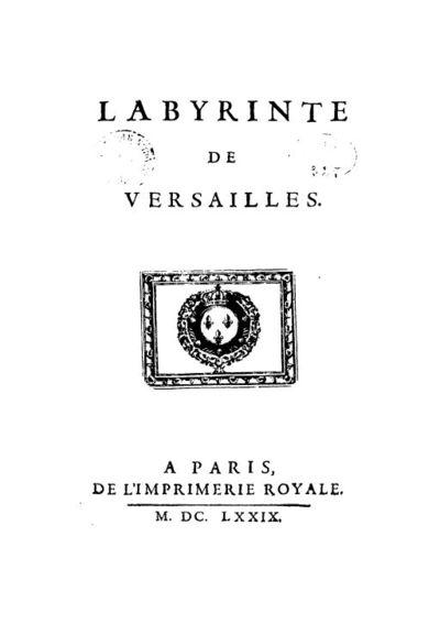 Labyrinte de Versailles : [estampe]