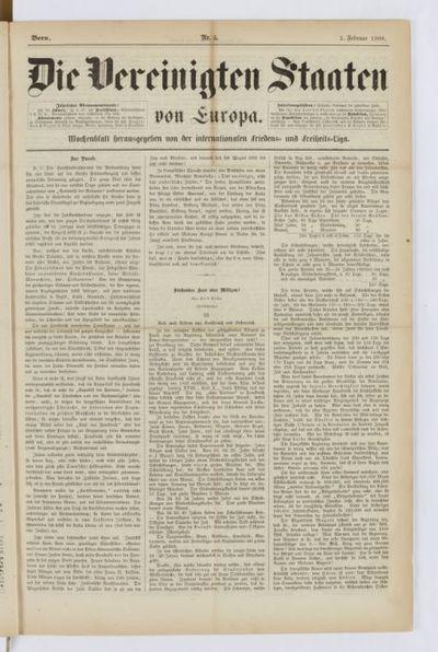 Die Vereinigten Staaten von Europa : Wochenblatt herausgegeben von der Internationalen Friedens- und Freiheits-Liga : hebdomadaire puis mensuel