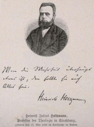 Heinrich Julius Holtzmann, Professor der Theologie in Strasburg, geboren den 17. Mai 1832 in Karlsruhe in Baden, Buste, face