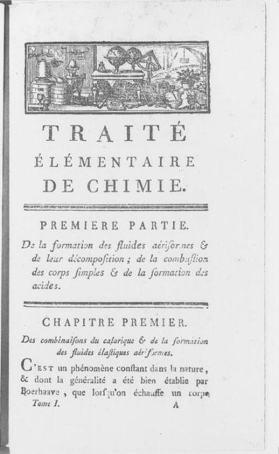 [Illustrations de Traité élémentaire de chimie, présenté dans un ordre nouveau et d'après les découvertes modernes, avec figures] / Paulze Lavoisier, grav. ; Antoine Laurent de Lavoiser, aut. du texte
