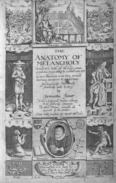 [Illustration de The anatomy of melancholy] / [Non identifié] ; [Non identifié]