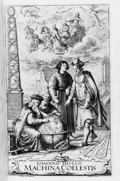 [Illustrations de Machinae coelestis...] / [Non identifié] ; Johannes Hevelius, aut. de texte