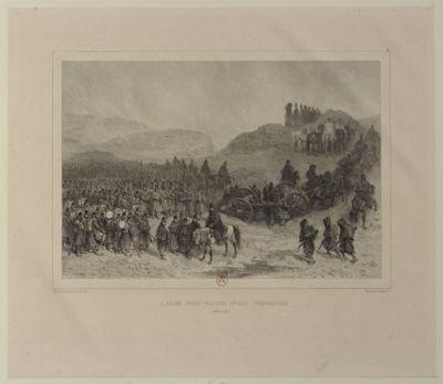 L'Armée prend position devant Constantine : Octobre, 1837 : [estampe] / Raffet 1838