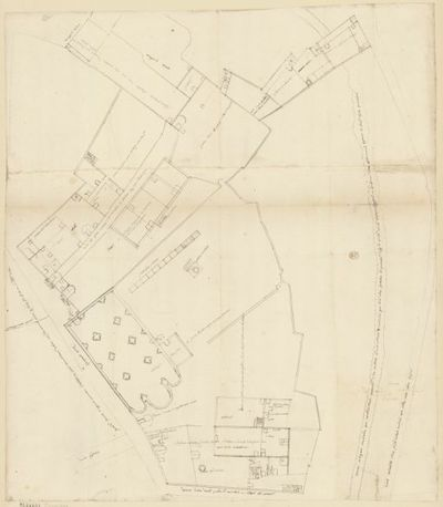 [Collège de Bourges, France : plan d'ensemble] : [dessin, plan] / [Étienne Martellange]