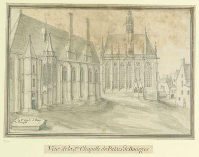 La Ste Chapelle du Palais // de Bourges : Veüe de la S.te Chapelle du Palais de Bourges : [dessin] / [Etienne Martellange]
