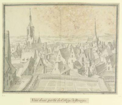 Du College de // Bourges : Veüe d'une partie du Collège de Bourges : [dessin] / [Etienne Martellange]