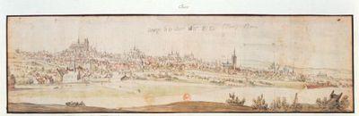 Bourges. Le 13 Aoust 1635. B. D. : [dessin]