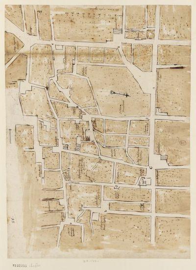 [Collège de Naples : plan d'un quartier de Naples montrant les emplacements respectifs du Collège du