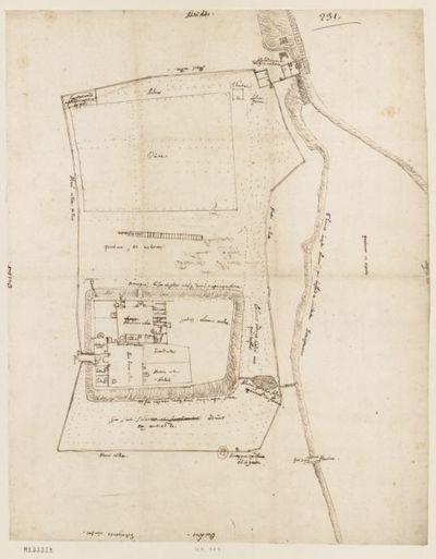 [Maison de campagne de Lazenay-lès-Bourges, France - plan de cette maison et de ses abords] : [dessin, plan]