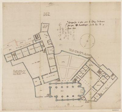 [Collège de Bourges, France : projet d'ensemble, non exécuté] : [dessin, plan] / [Fr. Étienne Martellange]