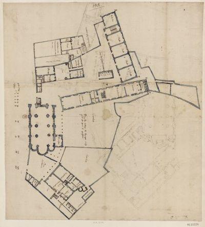 [Collège de Bourges, France : copies de deux plans] : [dessin, plan] / [Fr. Étienne Martellange]