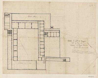 [Collège de Bourges, France : projet d'ensemble - plan du premier étage] : [dessin, plan]