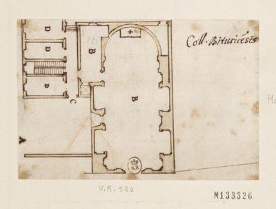 [Collège de Bourges, France : plan ou projet d'église] : [dessin, plan]