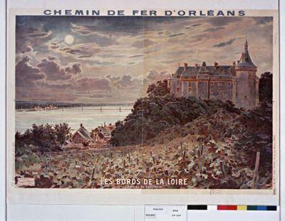 Chemin de Fer d'Orléans. Les Bords de la Loire (Chateau de Chaumont). : [affiche] / Poilpot
