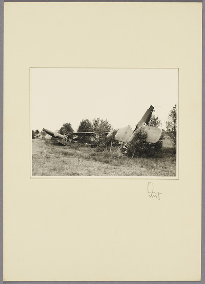 Zerstörte polnische Flugzeuge