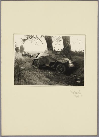 Zerstörter Panzerspähwagen
