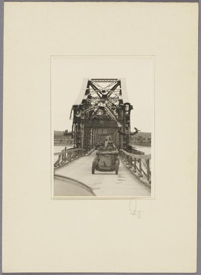 Beschädigte Weichsel Brücke