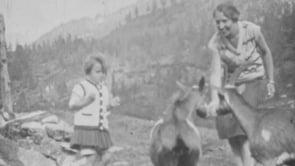 Famiglia in montagna