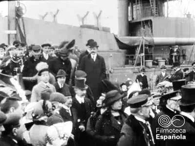 [Botadura del Acorazado Alfonso XIII] [Obra audiovisual].