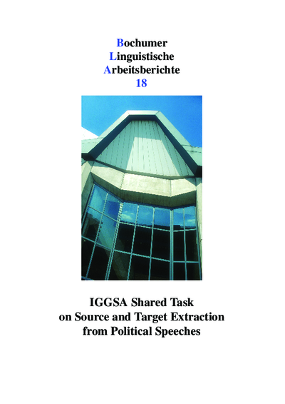 IGGSA Shared Task on Source and Target Extraction from Political Speeches