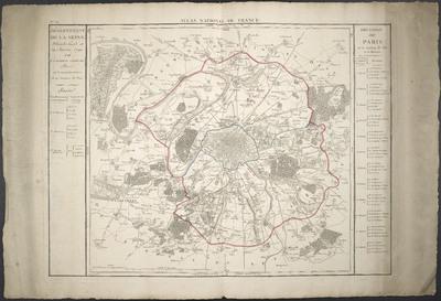 Département De La Seine : Décrété le 13. et 19. Janvier 1790 Par L'Assemblée Nationale ; Divisé en 3 Arrondissemens et 20 Justices de Paix