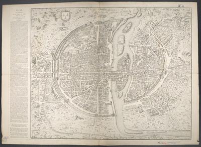 Plan en Perspective, De La Ville De Paris, telle qu'elle etoit sous le Regne de Charles IX : Gravé d'Après une Tapisserie conservée dans l'Hotel de Ville