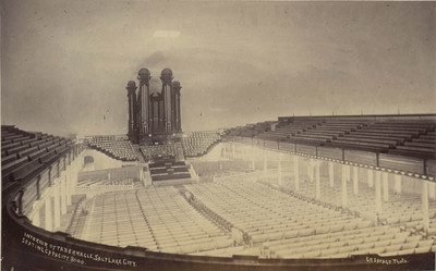 Salt Lake City: Interior of the Tabernacle : seating capacity: 8,000