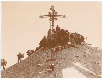 Gipfelkreuz auf dem Misti bei Arequipa