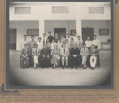 University of Karachi. Department of Geography. Staff and Students 1953 - 54