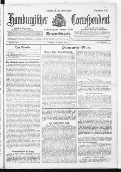 Börsen-Halle / ab 1905: Hamburgischer Correspondent und neue hamburgische Börsen-Halle - 1922-08-02