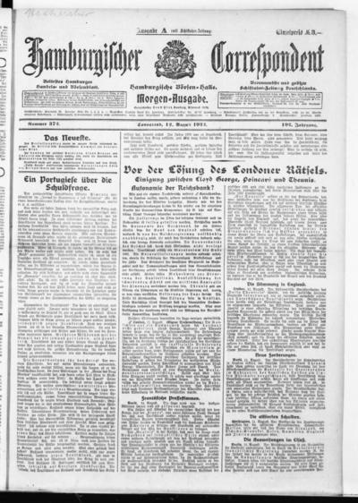 Börsen-Halle / ab 1905: Hamburgischer Correspondent und neue hamburgische Börsen-Halle - 1922-08-12