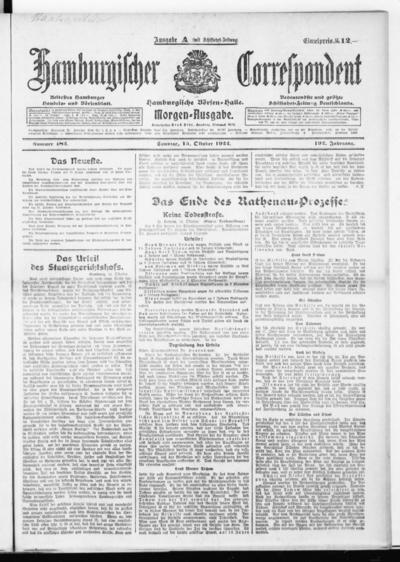 Börsen-Halle / ab 1905: Hamburgischer Correspondent und neue hamburgische Börsen-Halle - 1922-10-15
