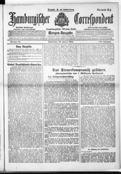 Börsen-Halle / ab 1905: Hamburgischer Correspondent und neue hamburgische Börsen-Halle - 1922-01-26