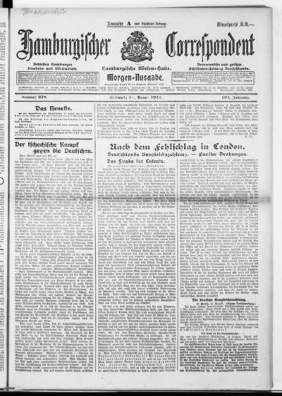 Börsen-Halle / ab 1905: Hamburgischer Correspondent und neue hamburgische Börsen-Halle - 1922-08-16