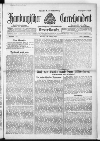 Börsen-Halle / ab 1905: Hamburgischer Correspondent und neue hamburgische Börsen-Halle - 1922-03-26