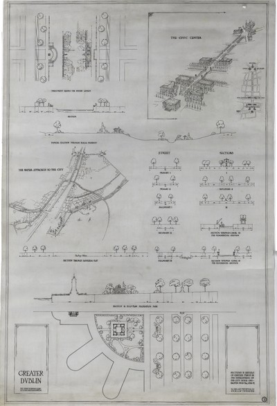 Sections & details of certain parts in the development of the city